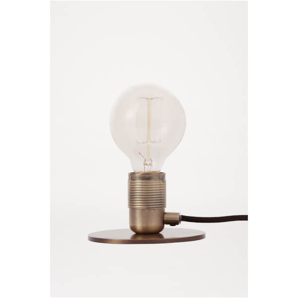 Frama E27 Table Lamp Base   Bronze   Black Cable: Image 1