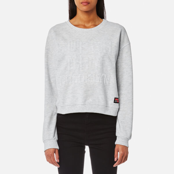 100% Guaranteed Superdry Women's Metro Corded Crew Sweatshirt - Ice Marl - M Sale Online Shop Classic Sale Online Affordable Cheap Online UXKFrttIpA