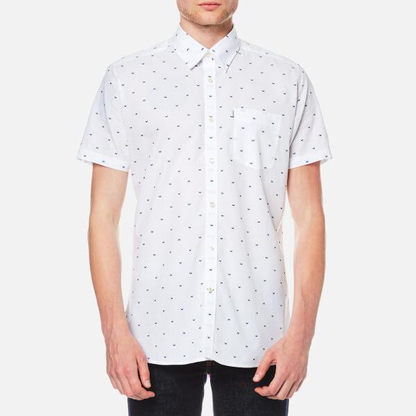 Barbour Men's Crab Short Sleeve Shirt - White