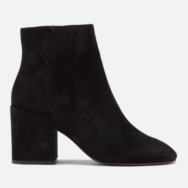 Ash Women's Eden Suede Heeled Ankle Boots - Black