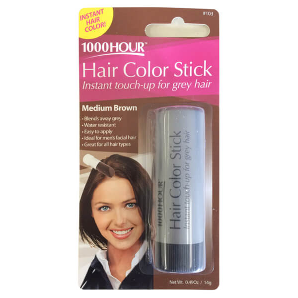 1000 Hour Hair Colour Stick - Medium Brown #103