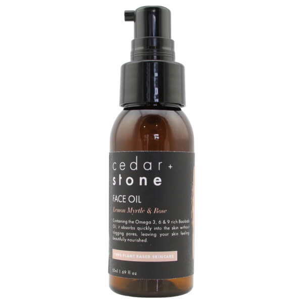Cedar + Stone Lemon Myrtle + Rose Face Oil 50ml