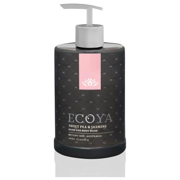 ECOYA Sweet Pea & Jasmine Hand & Body Wash 450ml
