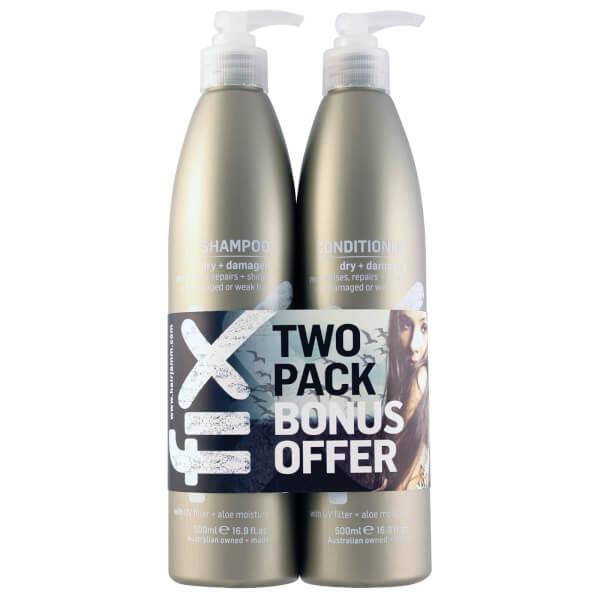 FIX Dry/Damaged Shampoo & Conditioner Duo 500ml
