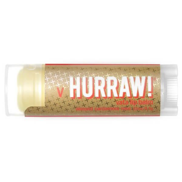 Hurraw! Vata Almond Cardamon Rose Lip Balm 4.3g