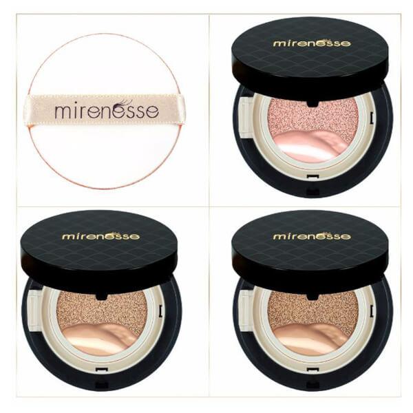 mirenesse 4 Piece Starter 10 Collagen Cushion Liquid Powder And Blush Mini Pack - Medium