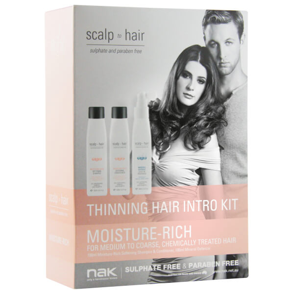 Nak Scalp To Hair Moisture-Rich Thinning Hair Intro Kit 3 x 100ml