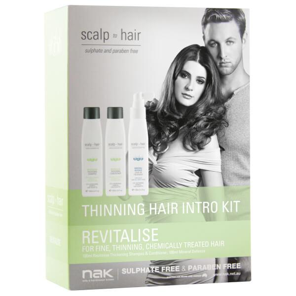 Nak Scalp To Hair Revitalise Thinning Hair Intro Kit 3 x 100ml