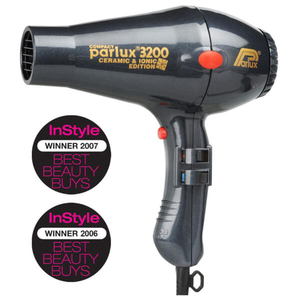 Parlux 3200 Ceramic And Ionic Hair Dryer Charcoal