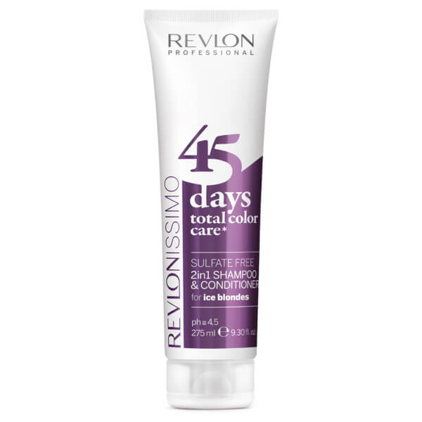 Revlon Professional 45 Days Total Color Care 2 in 1 Shampoo And Conditioner - Ice Blondes 275ml