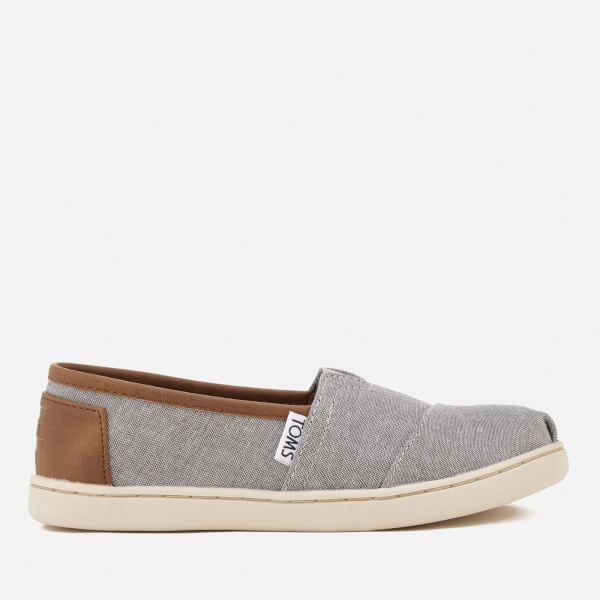 TOMS Kids' Seasonal Classic Chambray Slip On Pumps - Frost Grey