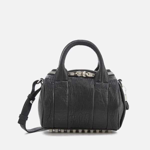 636bbf78e133 Alexander Wang Women s Mini Rockie Pebbled Leather Bag with Rhodium Studs -  Black  Image 1