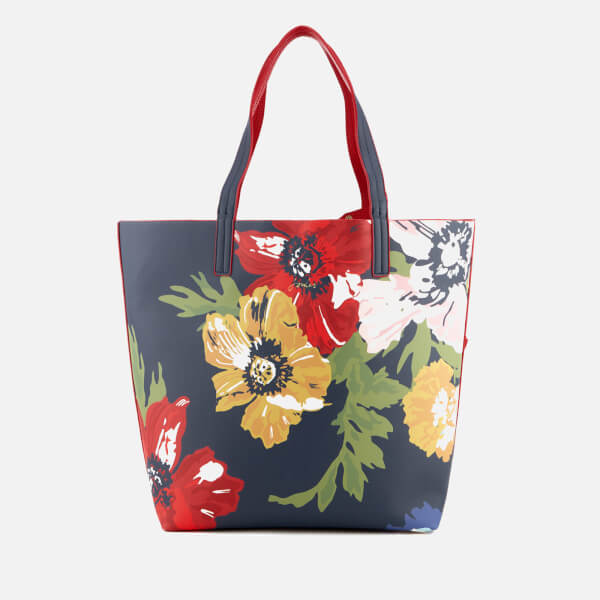 Joules Women's Revery Print Reversible Shoulder Bag - French Navy Posy