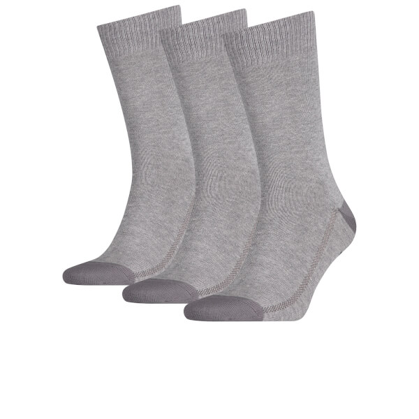 Levi's Men's 3 Pack Crew Socks - Grey