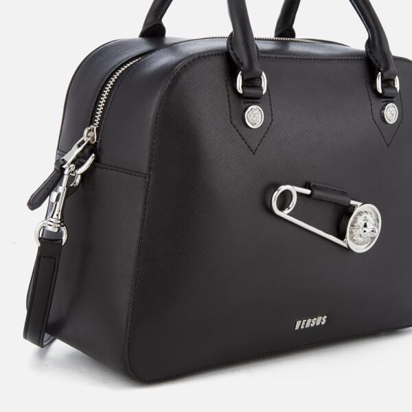 d6502a8fc364 Versus Versace Women s Safety Pin Large Bag - Black  Image 4