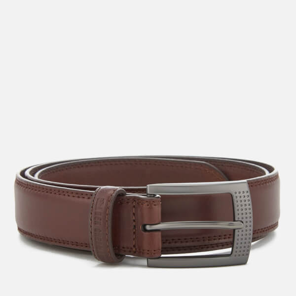 Ben Sherman Men's Leather Holloway Belt - Brown
