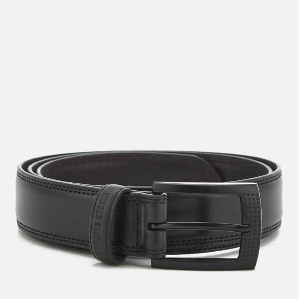 Ben Sherman Men's Leather Holloway Belt - Black