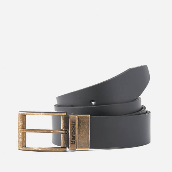 Barbour Men's Reversible Leather Belt Gift Box - Black