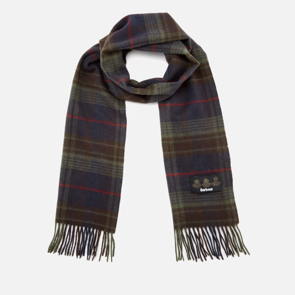 Barbour Men's Brignall Lambswool Scarf - Olive/Brown