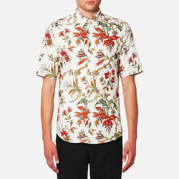 McQ Alexander McQueen Men's Shields Short Sleeve Floral Shirt - Parchment