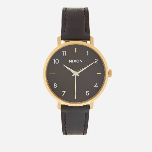 Nixon Women's The Arrow Leather Watch - Gold/Black