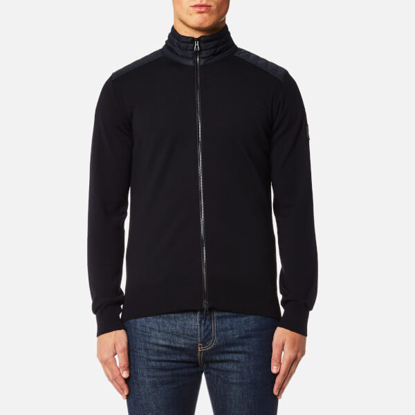 Belstaff Men's Kelby Zipped Cardigan - Dark Navy: Image 1