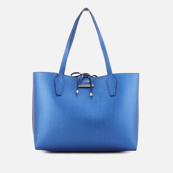 Guess Women S Bobbi Inside Out Tote Bag Blue Cognac Image 1