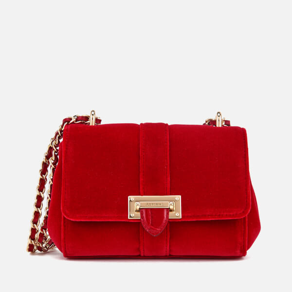 Aspinal Of London Women S Lottie Micro Velvet Cross Body Bag Scarlet Image 1