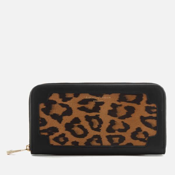 Aspinal of London Women's Marylebone Purse - Black Leopard