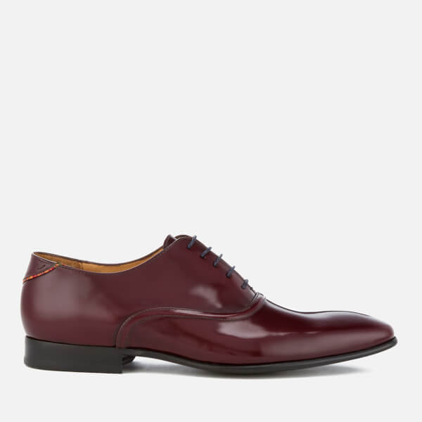 PS by Paul Smith Men's Starling High Shone Leather Oxford Shoes - Burgundy