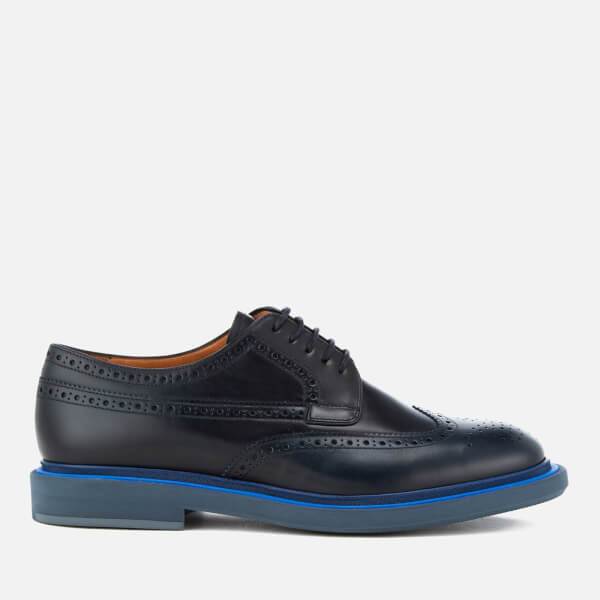 PS by Paul Smith Men's Junior Burnished Leather Brogues - Navy