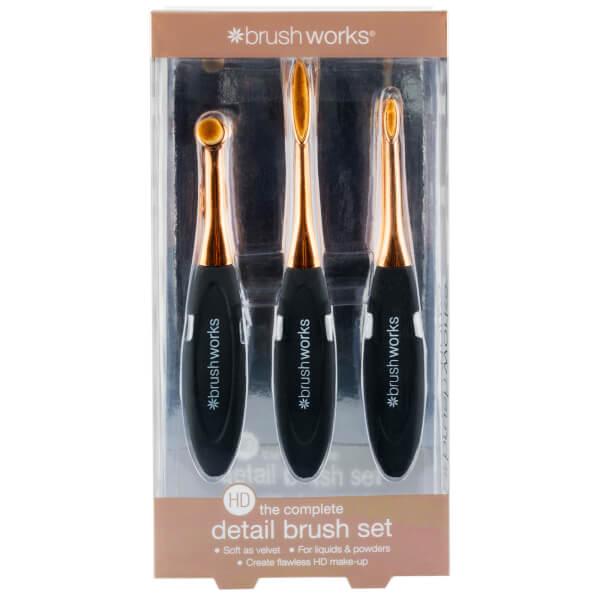 brushworks HD Oval Brushes Detail Set