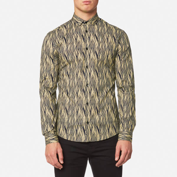 3a903f1e0295 Versace Collection Men s Shirt - Blu Stampa - Free UK Delivery over £50