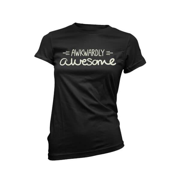 Awkwardly Awesome Women's Black T-Shirt