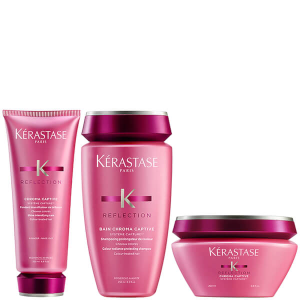 Kérastase Réflection Bain Chroma Captive 8.5oz, Hair Conditioner 6.8oz & Masque Chroma Captive 6.8oz