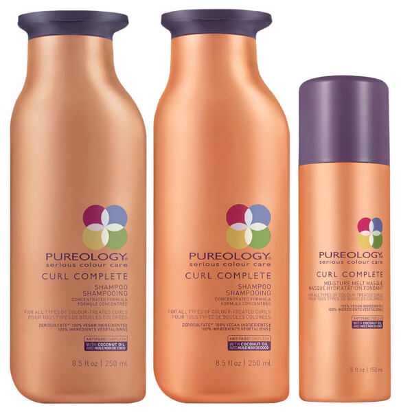 Pureology Curl Complete Shampoo 8.5oz, Conditioner 8.5oz & Moisture Melt Masque 5oz