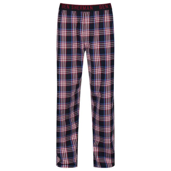 Ben Sherman Men's Blake Check Lounge Pants - Red