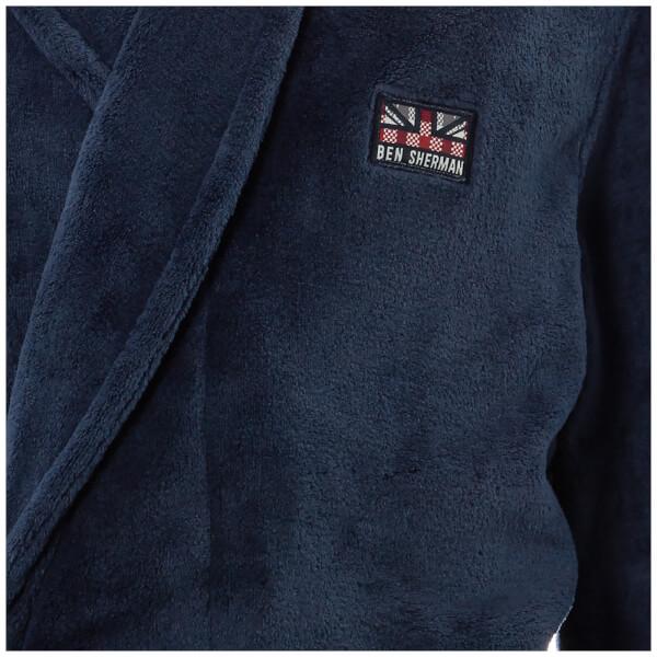Ben Sherman Men\'s Henry Fleece Robe - Navy Clothing   Zavvi Australia