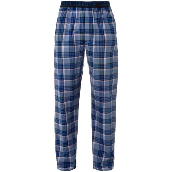 Ben Sherman Men\'s Max Check Lounge Pants - Blue Clothing   Zavvi US