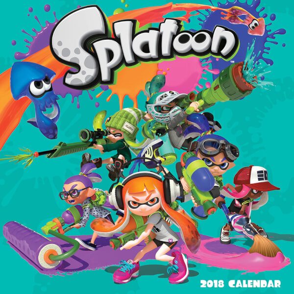 Splatoon Calendar 2018