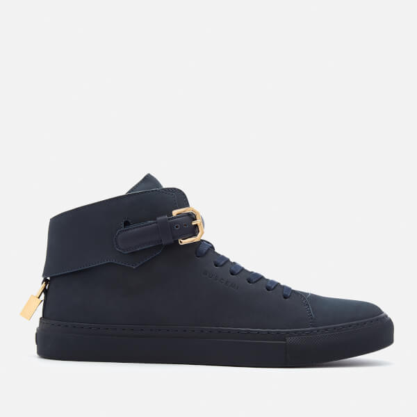 100mm Buckle high-top leather trainers Buscemi xixcqYk9