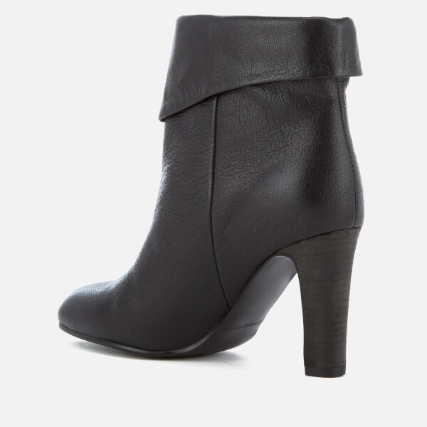 Chloé Women's Leather Fold Over Heeled Ankle Boots - Nero - UK 6 8aCq6L29
