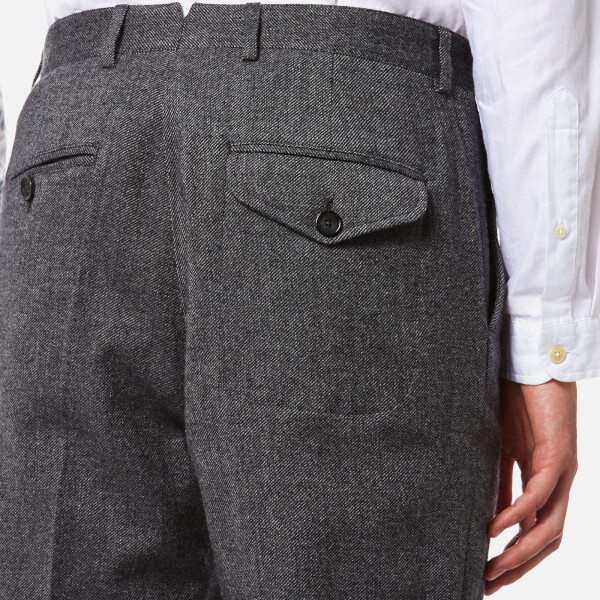 Oliver Spencer calls these 'Fishtail' trousers its smartest and most versatile style. This pair is made from lightweight navy linen and detailed with a distinctive coin pocket. This pair is made from lightweight navy linen and detailed with a distinctive coin pocket.