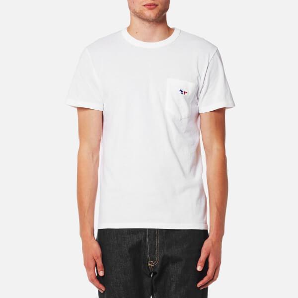 Maison Kitsune男式三色Fox PatchT恤-白色