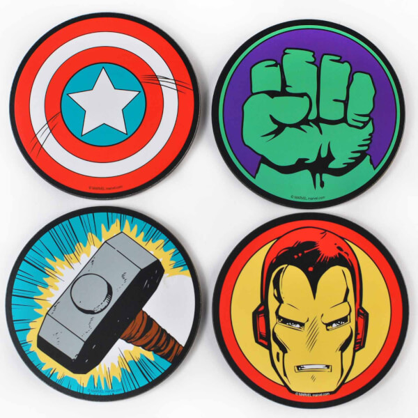 Marvel Comics Set of 4 Coasters