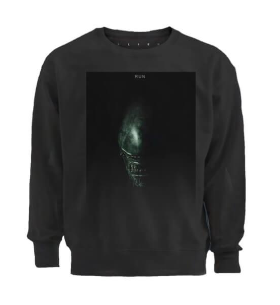Alien Run Men's Black Sweatshirt