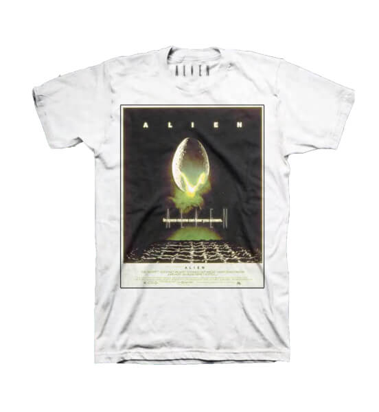 Alien Classic Poster Print Men's White T-Shirt