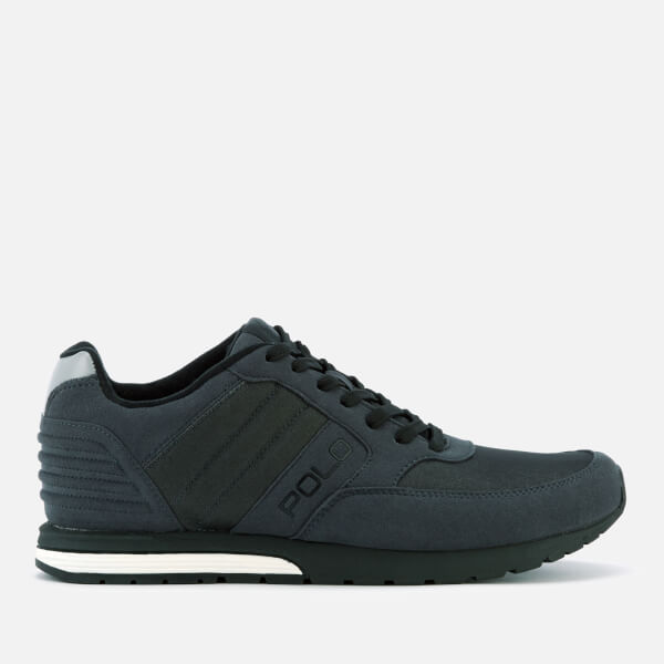 Polo Ralph Lauren Men's Laxman Mesh Runner Trainers - Dark Carbon Grey/Black