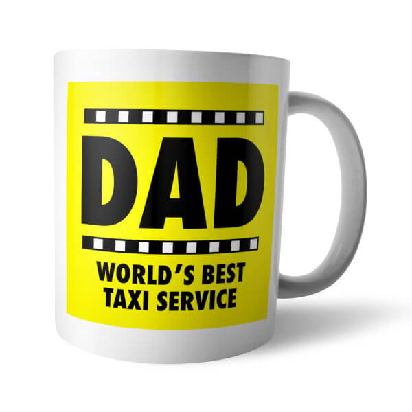 Yellow Dad Taxi Mug