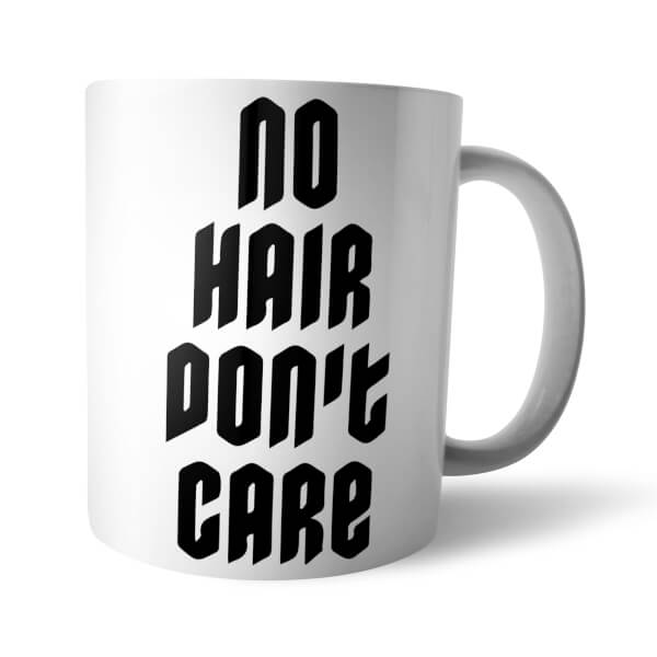 No Hair Don't Care White Mug